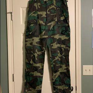 Camo Cargo Men's Hunting Pants Medium Long